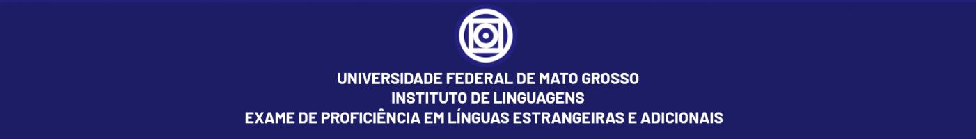 EXAME DE PROFICIÊNCIA EM LÍNGUAS ESTRANGEIRAS